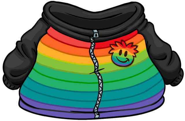 File:Rainbow Puffle Hoodie clothing icon ID 4812.png