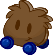 Wooden Wheelie Puffle icon