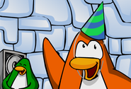 Penguin Wearing 1st Year Party Hat