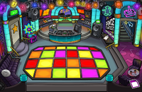 Dance club with new design puffle
