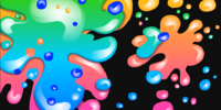 Neon Paint Splatter Background