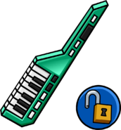 Green Keytar unlockable icon