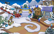 Merry Walrus Party Ski Village