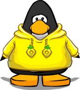 Yellow O'berry Hoodie on a Player Card