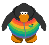 File:Rainbow Puffle Hoodie ingame.PNG