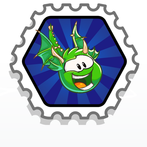 File:Green puffle dragon stamp.png