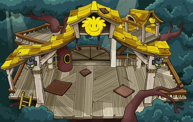 File:Yellow Puffle Tree House sprite.png