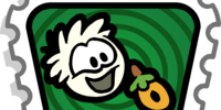 White Puffle stamp