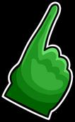 Green Foam Finger Icon