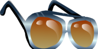 Orange Aviator Shades