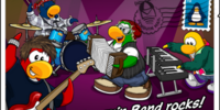 Penguin Band Rocks postcard