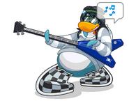 Penguin guitar pose