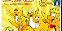 Join Team Yellow postcard
