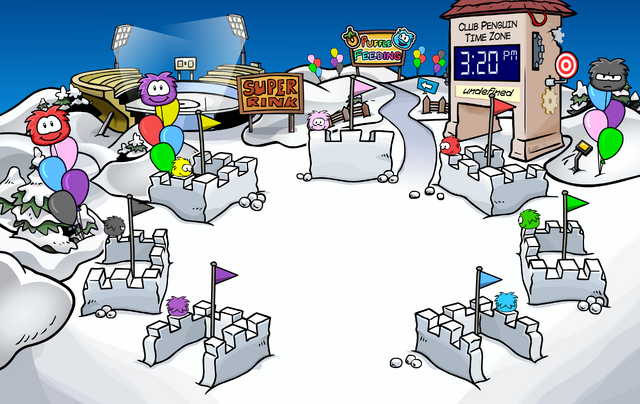 File:Puffle Party 2009 Snow Forts.png