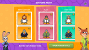 Zootopia Party app interface page 3