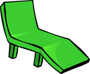 Green Deck Chair