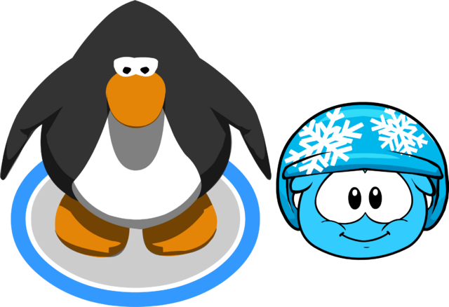 File:Puffle Hats snowflakehelmet in game.png