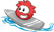 Red Puffle Catchin' Waves2