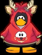 Red Deer Hoodie on a Player Card