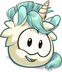 Unicorn Puffle artwork