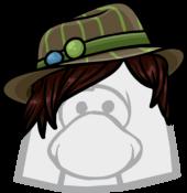 Brown Striped Fedora icon