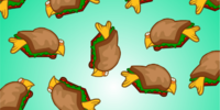 Fluffy Sandwich Background