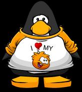 I Heart My Orange Puffle T-Shirt PC