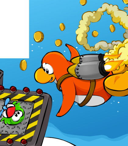 File:Green Puffles in Jet Pack Adventure card image.png