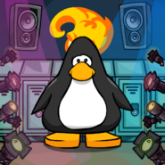 Club Penguin High background from a Player Card