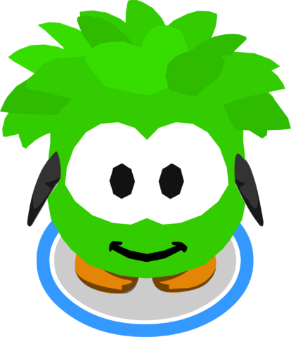 File:Green Puffle Costume in-game.png