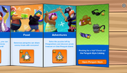 Club Penguin Island Party app interface page 3