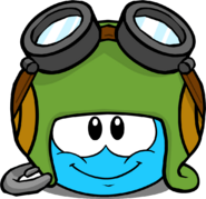Aviator Hat in Puffle Interface