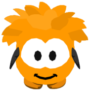 Orange Puffle Costume ingame