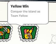 Yellow win stamp book