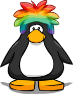 Rainbow Puffle Cap on a Player Card