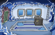 Puffle Party 2009 construction Underground Pool