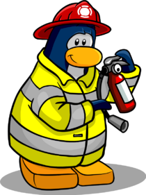Fire Fighter penguin