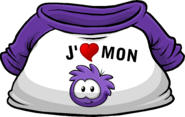 I Heart My Purple Puffle T-Shirt icon fr