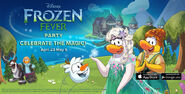 Frozen Fever Party login screen