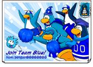 Join Team Blue Postcard