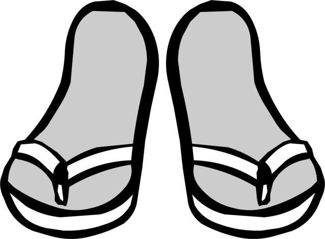File:White Sandals clothing icon ID 6098.png