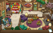 Puffle Party 2015 construction Ski Lodge