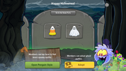 Halloween Party 2016 app interface page 2