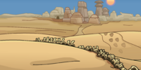 Tatooine's Desert Background