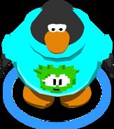 Green Pixel Puffle Tee in-game