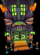 HalloweenParty2015PuffleHotelExterior