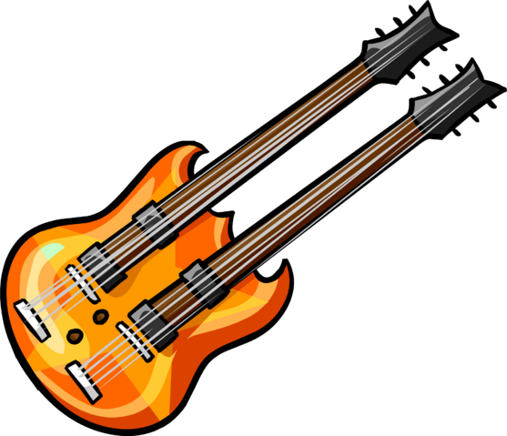 File:Orange double neck guitar.png