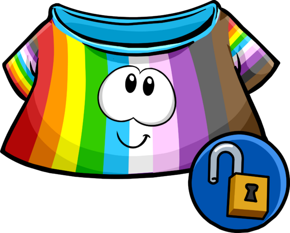 File:Rainbow Puffle Shirt icon.png