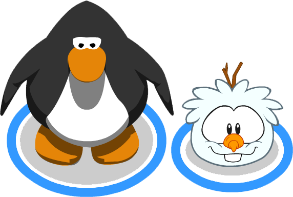 File:Snowman Puffle in-game.png