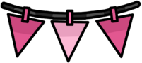 Pink Triangle Pennants furniture icon ID 2002